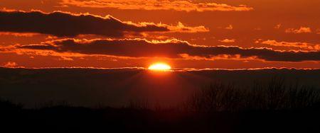 Fireball fading Sunset