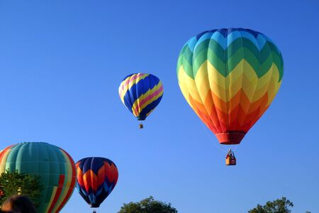 Hot Air Ballooning Sky Stock Photo - 484483