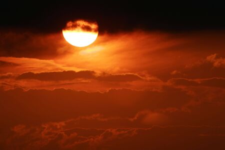 sunset sky clouds nature