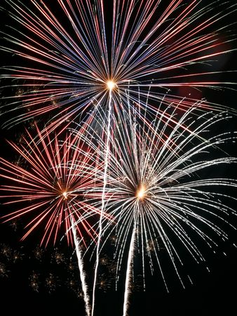 fireworks fourth july celebrate independence day Stock Photo