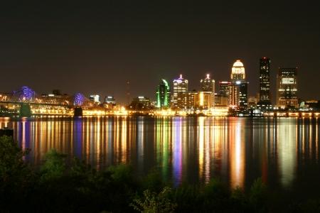 kentucky manzara panoramik şehir manzarası ışıkları