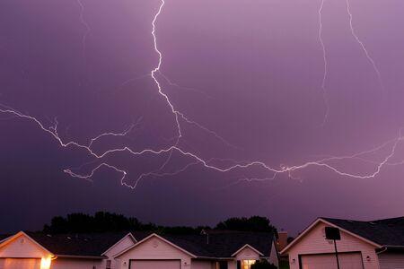 cloud lightning strike Stock Photo