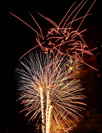 fireworks display event show fourth Stock Photo