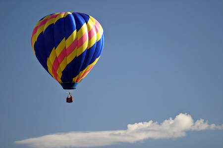 gökyüzünde sıcak hava balonu uçuşu Stock Photo