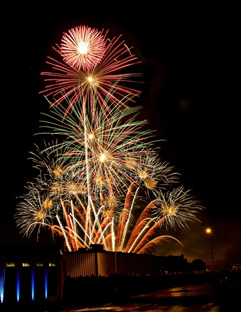 amazing fireworks display on fourth of july