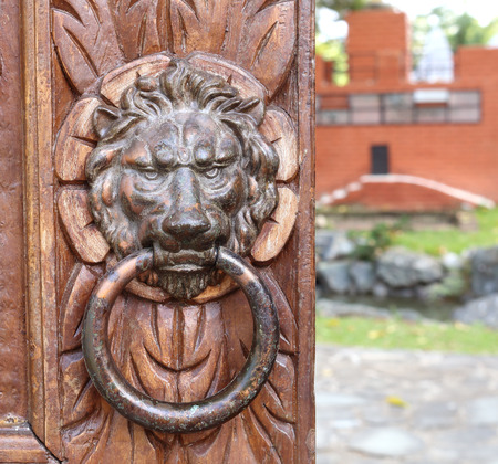 knocker: Old door knocker Stock Photo