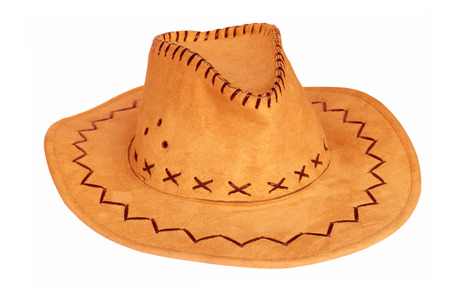accessories horse: Cowboy hat isolated on the white background