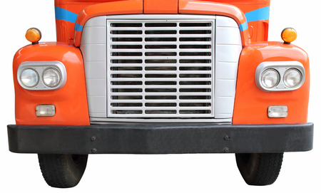 vintage truck: Color detail on the headlight of a vintage truck Stock Photo