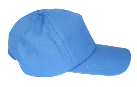 baseball caps: Blue color baseball caps isolated on white background