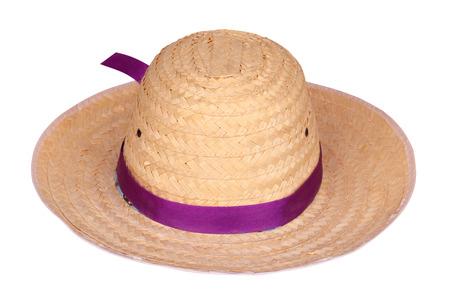 framer: Framer bamboo hat isolated on white background