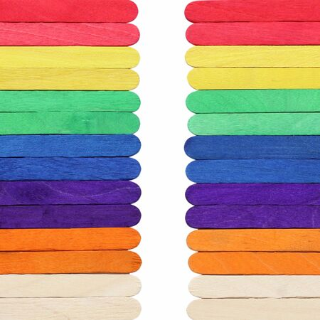 descriptive colors: Colorful wood ice-cream stick Stock Photo