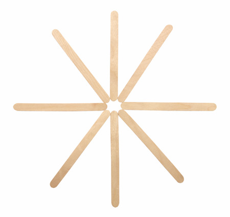 depressor: Ice cream wood and lolly sticks on white background