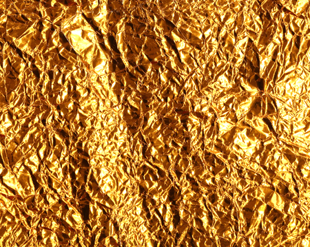 foil: crumpled foil yellow