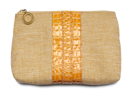 clutch bag: Makeup bag on white background