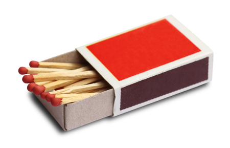 Box of matches isolated on white background Banque d'images