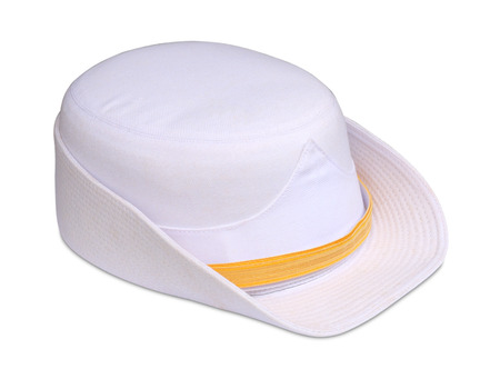commissioner: Commissioner woman thailand white hat on white background
