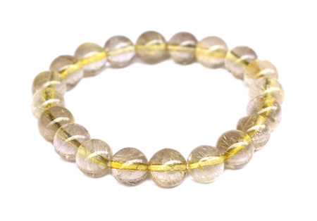 Bracelet stone on white background