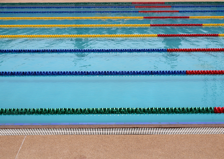 clearly: Outdoor Swimming Pool -- with clearly marked lanes for competitions