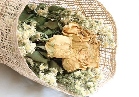 impermanent: Closeup of a bouquet of dried flowers