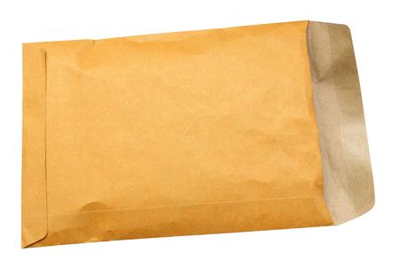 흰색 배경에 고립 된 갈색 봉투 스톡 콘텐츠