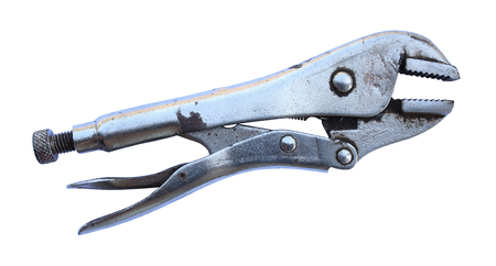 locking pliers isolated on white background. Stock Photo