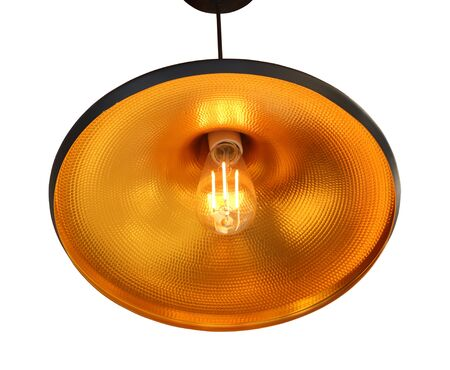 Pendant modern lamp 3D, isolated on white background.
