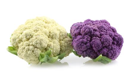 Cauliflowers isolated on white background. Stock Photo