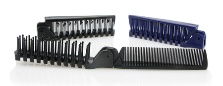 Folding Combs isolated on white background.