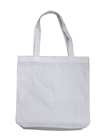 Fabric bag isolated on white background.