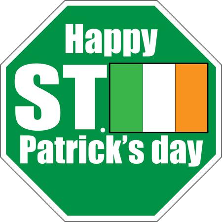happy saint patrick day green sign