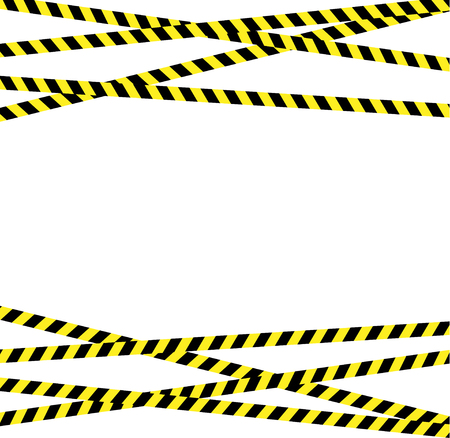 Caution line with tiger yellow and black stripes Standard-Bild - 121864741