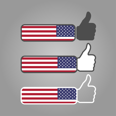 three different thumbs up likes with writing on