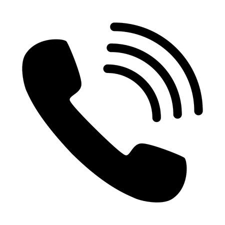 numéro de téléphone accrocher appel icône noir blanc Vecteurs