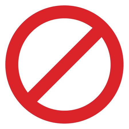 signe de restriction rouge et blanc interdisant toute chose