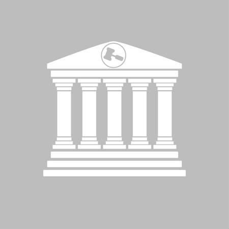 Gerichtsgebäude Fassade in flacher Ausführung weiß grau