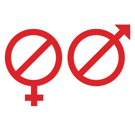 female male signs in the form restriction sign
