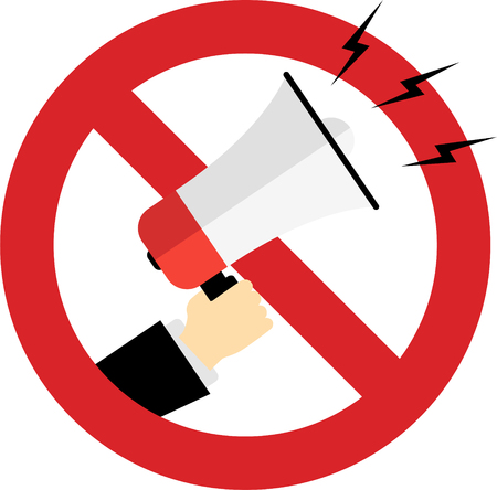 usage of megaphone is prohibited in this area