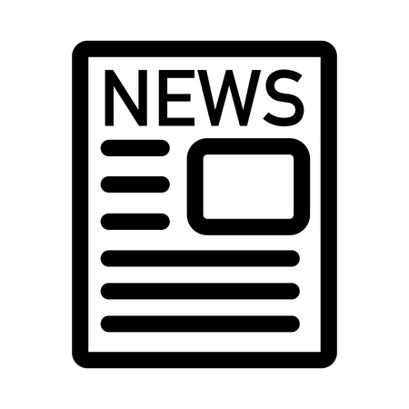 news paper icon black and white logo vector