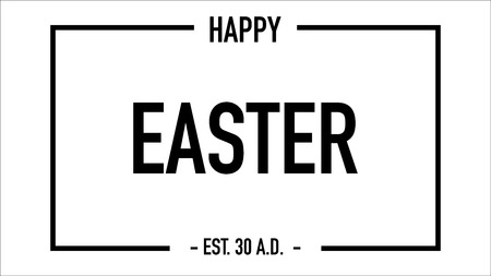 happy easter greeting card with established date vector