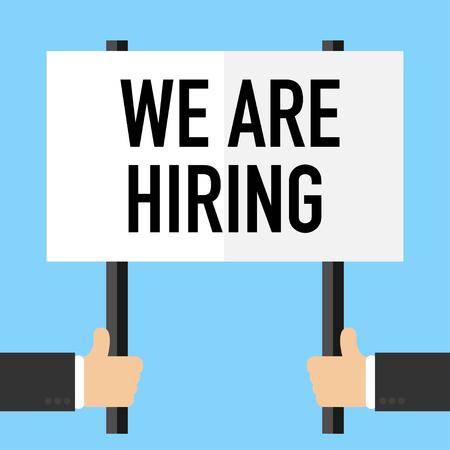 estamos contratando cartel para vector de reclutamiento de personas