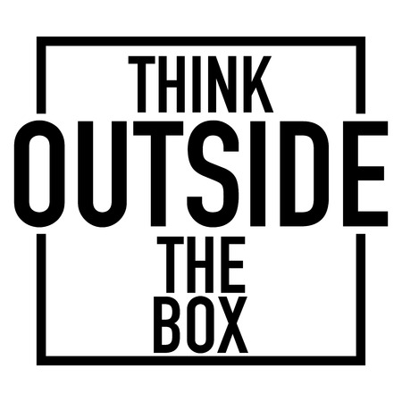 think outside the box white background vector