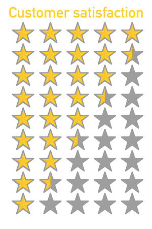 customer service rate shown with five stars vector
