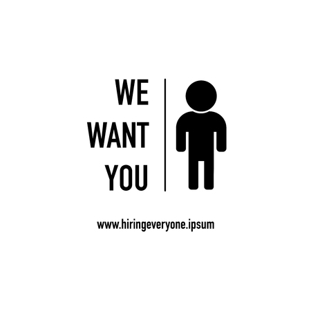 we want you and ready to hire vector
