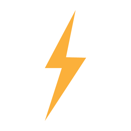 thunder lightning flash bolt sign on white background