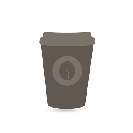 paper coffee cup for take away white background Иллюстрация
