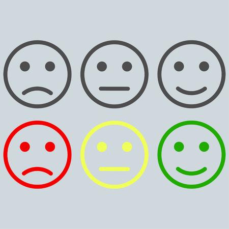 set of smiles for rating some service vector Ilustração