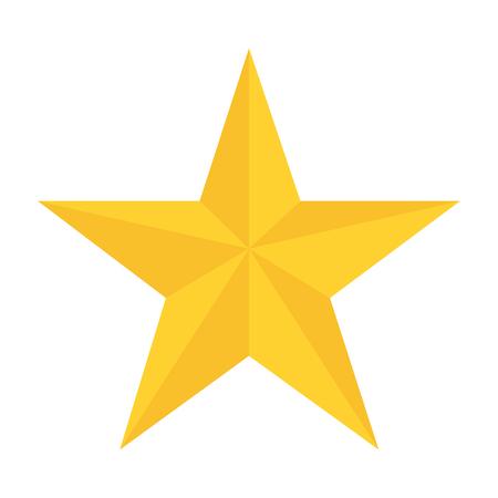 estrella amarilla en vector de fondo blanco de estilo plano