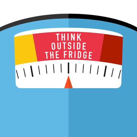badkamervloerweegschaal met idee voor gewichtsverlies Vectorbeelden