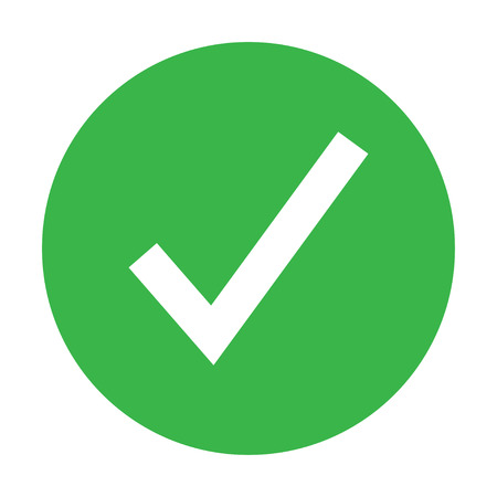 plain icon showing yes or no color vector