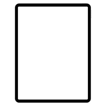 Zeichenblock für Illustratoren auf weißem Hintergrundvektor